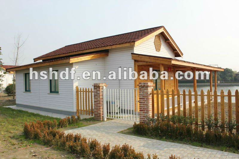 Good looking and living comfortable wood pfefabricated luxury villa for sale