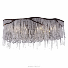 Modern style ceiling light in antique brass with crystal bead DJ-8044D
