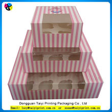 Cheap cupcake take away Muffin cake box with Window
