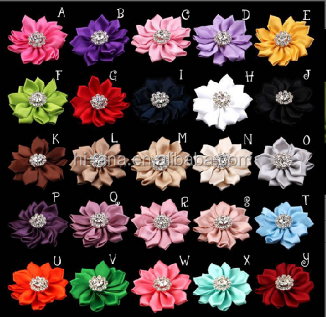 New explosion - paragraph multi - angle plus diamond ribbons flowers baby handmade cloth flowers hair accessories 25