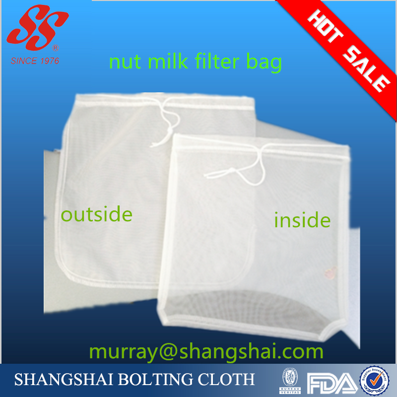 usa amazon FBA shipping by fedex-<strong>13</strong>*<strong>13</strong>'' bigger bag nylon nut milk bag