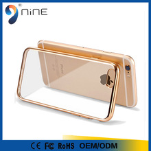 Cheap Mobile Accessories Electroplating silicone Transparent Back Cover Case For iPhones Case Mirror TPU Phone Case