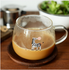 Super Meng animal transparent glass sub 2016 new creative breakfast cup heat male and female students Tatu Cup Milk