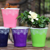 Hot sale!Indoor and outdoor gardan decorative cheap small trough planters flower pots table