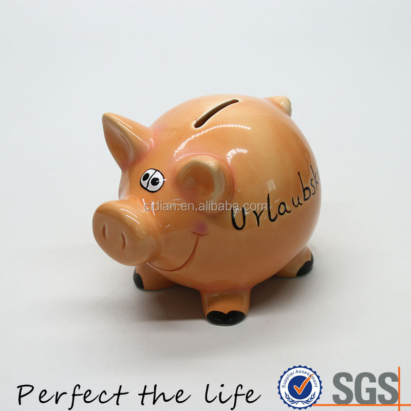 Child Cute Ceramic piggy bank for kid