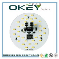 1.0W/M.K 1.6mm led light single sided Aluminum board mc pcb