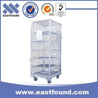 4 Wheels Moving Wire Heavy Duty Trolley Cart, Transport Steel Roll Container