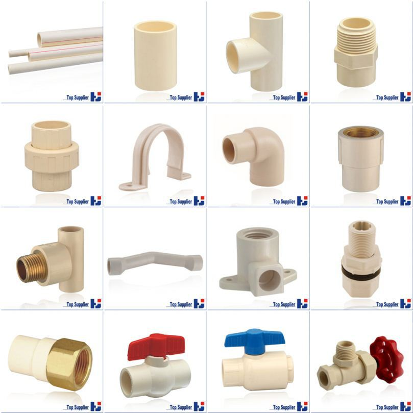 HJ CPVC ASTM D2846 water supply system connection pipe & fitting