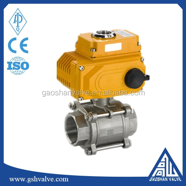 electric actuator 3pc ball valve