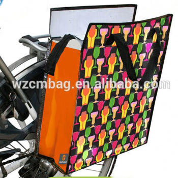 Colorful folding bicycle bag