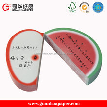 3D fruit sticky note Red apple shaped sticky note & memo pad