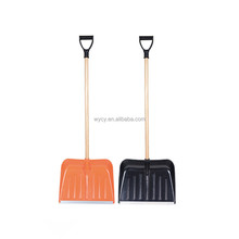 Wooden handles for hand tools push snow shovel