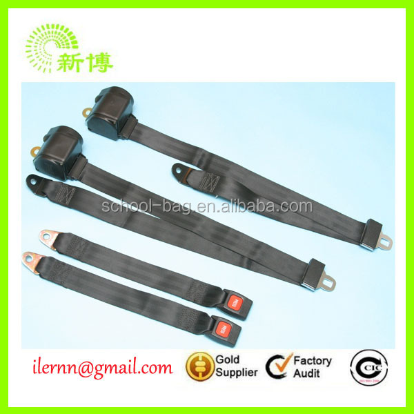 simple two point bus safety seat belt