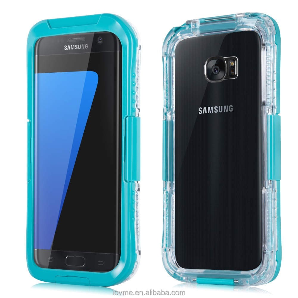 Shockproof transparent waterproof 2 in 1 mobile phone for samsung galaxy s7 case