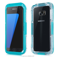 Shockproof transparent waterproof 2 in 1 mobile phone for for samsung galaxy s7 case