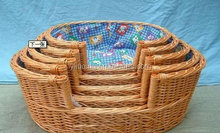 Wicker basket For Cats and Dogs wicker pet beds