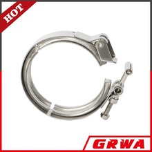 stainless steel quick release v band clamp with male and female flanges