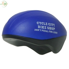 PU Toy Custom Printed Bicycle Helmet Stress Reliever For Advertising Ever Promos