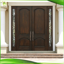 glass insert solid mahogany wood front entry doors with sidelights
