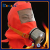 Fire fighting smoke escape mask face cover hood