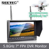 Videography wireless 7 inch aerial fpv lcd monitor rechargeable remote control toy helicopter for drones
