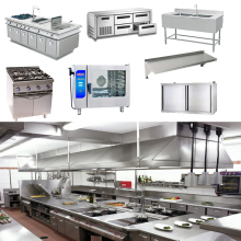Customized professional unique restaurant kitchen Overall project