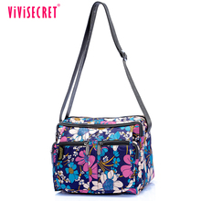 Vivisecret custom cheap promotional messenger bag recycled reusable polyester waterproof sling crossbody bag