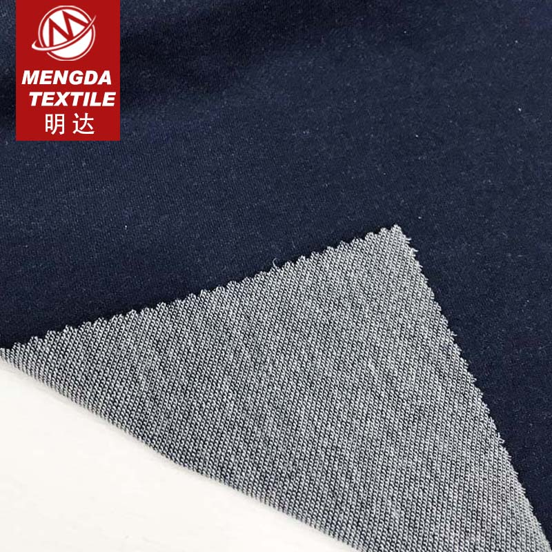 cotton polyester blended yarn twill knitted denim fabric for pants wholesale