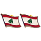 lebanese Lebanon flag lapel pin badge