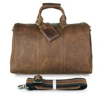 7077B Brown Wholesale Best Crazy Horse Leather Men Travel Crossbody Bag