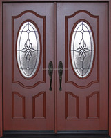 Exterior Front Entry Double House Fiberglass Door