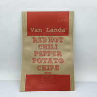 Custom poly lined Kraft paper bags for potato chips