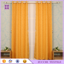 Stripe Style Yellow Curtain Fabric Jacquard Wholesale For Hotel Living Room