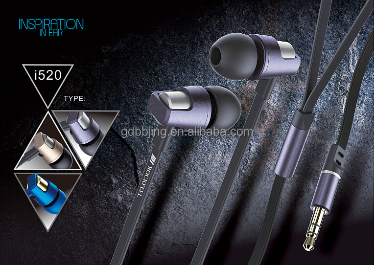 novelty metal in-ear earphone with MIC for ps4,MP3 player with CE/Rosh certification voice to skull