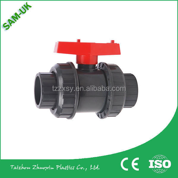 Ningbo Export PVC True Union Ball Valve Double Union ball valve