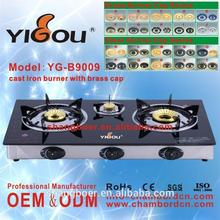 YG-B9009 glass top gas cooker battery stove for cooking infra red gas cooker