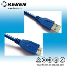 USB 3.0 flash drive to micro B male extension cable for Computer PC Hard Disk