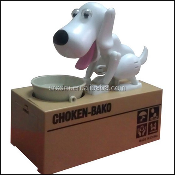 Doggie Coin Bank Plastic Dog Shaped