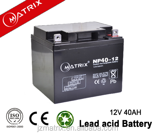 matrix top quality solar street lighting system battery 12v 40ah