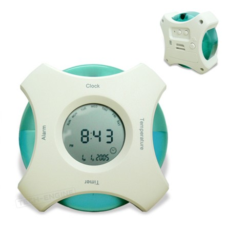 Eco-friendly water powered alarm clock
