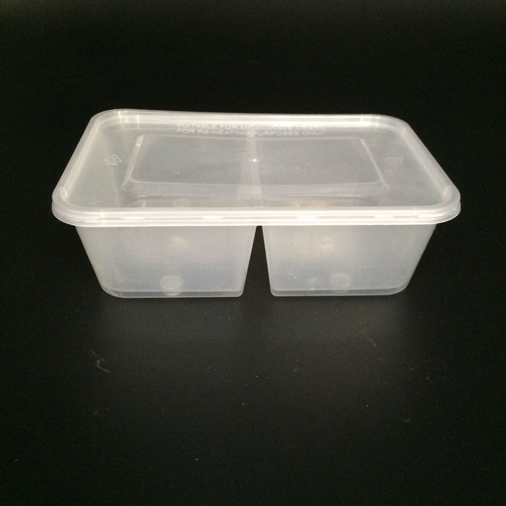 Dishwasher Safe Plastic Food Container 2 Compartments