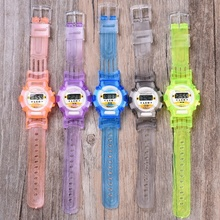 Promotional Cheap Price Waterproof Silicone Sport Digital LED Wristband Watch For Kids