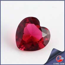 dark red heart shape small glass gems in China