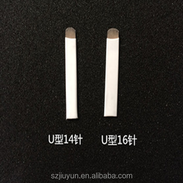<strong>U</strong> 14/<strong>16</strong>/18/21 Pins Permanent Makeup Eyebrow Embroidery For 3D Microblading Manual eyebrow tattoo blade