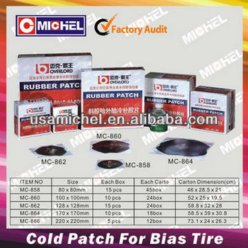 Cold Patch For Bias Tyre, Cold Rubber Patch