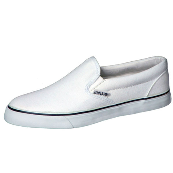 Court shoes jeans Slip-on (White)