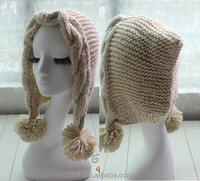 popular Knitted winter hats with earflap for adults