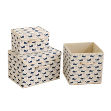 New Cute Printing Foldable Toys Storage Box Closet with Lid