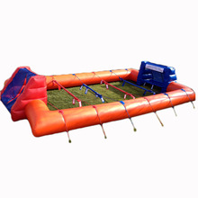 2017 new design inflatable human football table for adults and children, inflatable soccer table top football game for sale