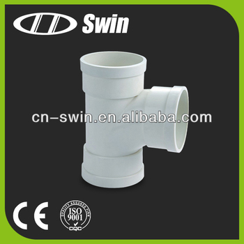 High quality corrosion resistant pvc equal tee for water drainage